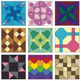 Traditional quilting patterns. Advanced quilting patterns. Traditional designs Stock Photos