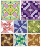 Traditional quilting patterns. Advanced quilting patterns. Traditional designs Royalty Free Stock Photos