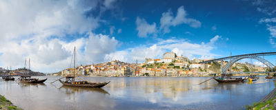 Traditional Rabelo boats on the Douro River Stock Images