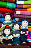 Traditional rag dolls in national clothes, Ecuador Royalty Free Stock Photos