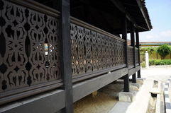 Traditional railing of Masjid Kampung Laut at Nilam Puri Kelantan, Malaysia Stock Image