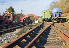 Traditional railway stock in a siding Royalty Free Stock Images
