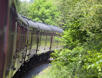 Traditional railway train carriages Royalty Free Stock Images