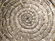 Traditional rattan weave texture wicker, circle weave, spiral weave Stock Photography