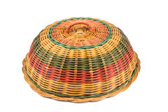 Traditional rattan weaved food cover Royalty Free Stock Images