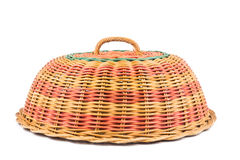 Traditional rattan weaved food cover Stock Images