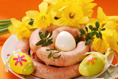 Traditional raw sausage for easter Stock Image