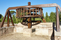 Traditional rebuild watermill surrounding by forest. Spain. Horizontal Royalty Free Stock Photos