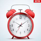 Traditional red alarm clock Royalty Free Stock Photos