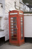 Traditional red british phone box Stock Images