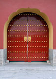 Traditional Red Chinese Door Stock Images