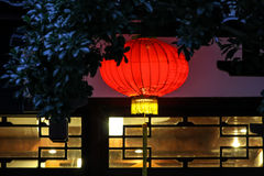 Traditional red chinese lamp Royalty Free Stock Photo