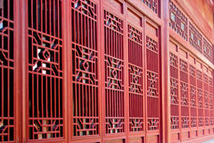 The traditional red door Stock Images