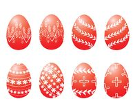 Traditional red Easter eggs il Royalty Free Stock Photo