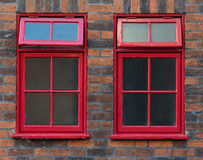 Traditional Red English Windows Stock Image