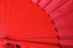 Traditional red flamenco fan royalty free stock photography
