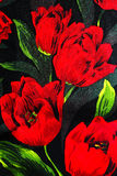Traditional red flower cloth Royalty Free Stock Photos
