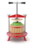 Traditional red fruit press Stock Photography