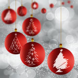 Traditional red and gold Christmas ball Royalty Free Stock Photography