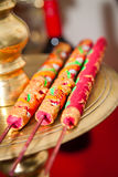 Traditional Red and Gold Vietnamese Wedding Incense Royalty Free Stock Photos