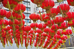 The traditional red lanterns Stock Image