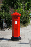 Traditional, red Penfold style postbox/pillarbox Stock Images