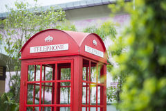 Traditional red phone booth Royalty Free Stock Images