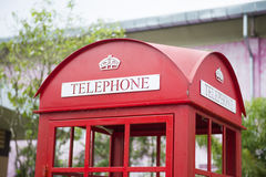 Traditional red phone booth Royalty Free Stock Photography