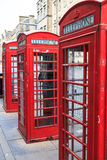 Traditional red phone booth in england Royalty Free Stock Photo