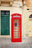 Traditional red phone booth in Malta Stock Image