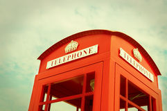 Traditional Red Phone booth Stock Photos