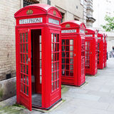Traditional red phone boxes in London Royalty Free Stock Image