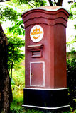 Traditional red postbox in Thailand Royalty Free Stock Images
