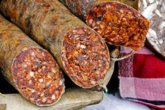 Traditional red sausage and aspic 1 Royalty Free Stock Photography