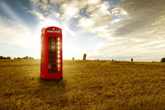 Traditional red telephone booth Royalty Free Stock Photos