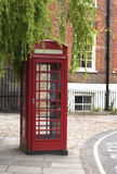 Traditional red telephone box Royalty Free Stock Images