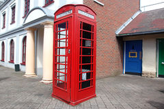 Traditional red telephone box. In London, UK Stock Image