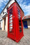 Traditional red telephone box in London Royalty Free Stock Photo