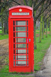 Traditional red telephone box in London Stock Photos