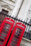 Traditional Red Telephone Box, London. Traditional Red Telephone Cabin Box in London, England, UK Royalty Free Stock Image