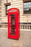 Traditional red telephone box in London Stock Images