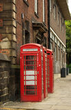 Traditional red telephone box in UK Royalty Free Stock Image