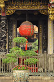 Traditional red temple lantern, Taiwan Royalty Free Stock Photo