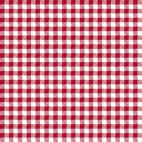 Red Gingham Seamless Pattern. Traditional red and white gingham seamless pattern Stock Image