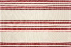 Traditional red and white striped cotton fabric kitchen bistro s