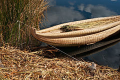 Traditional reed boat Stock Photos