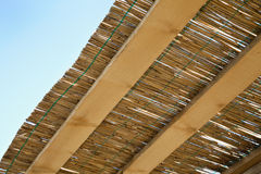 Traditional reed and wooden roof Stock Images