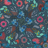 Traditional renaissances flower illustration seamless pattern Royalty Free Stock Images
