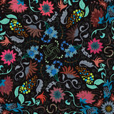 Traditional renaissances flower illustration seamless pattern Stock Photo