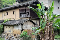 Local traditional residence in country of Fujian, China. Traditional residence in country of Fujian, South of China, shown as traditional architecture detail and Royalty Free Stock Photo